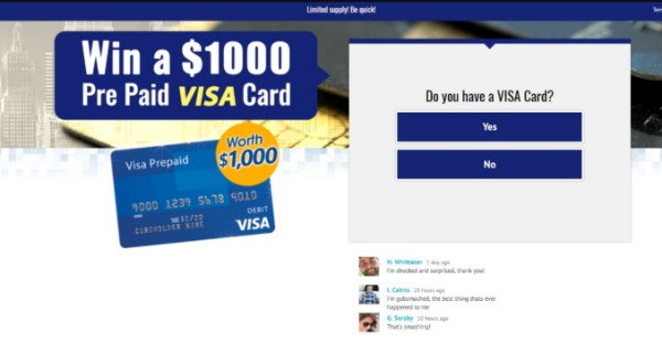 Get $1000 Visa Gift Card to Spend Anywhere!
